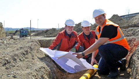 Stadtwerke Andernach erneuern Versorgungsanlagen in der Alte Mayener Straße.