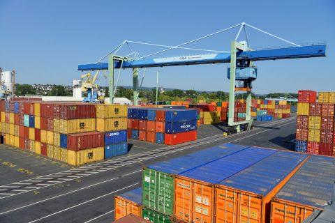 Hafen Andernach Containermengen 2019 auf Rekordniveau.
